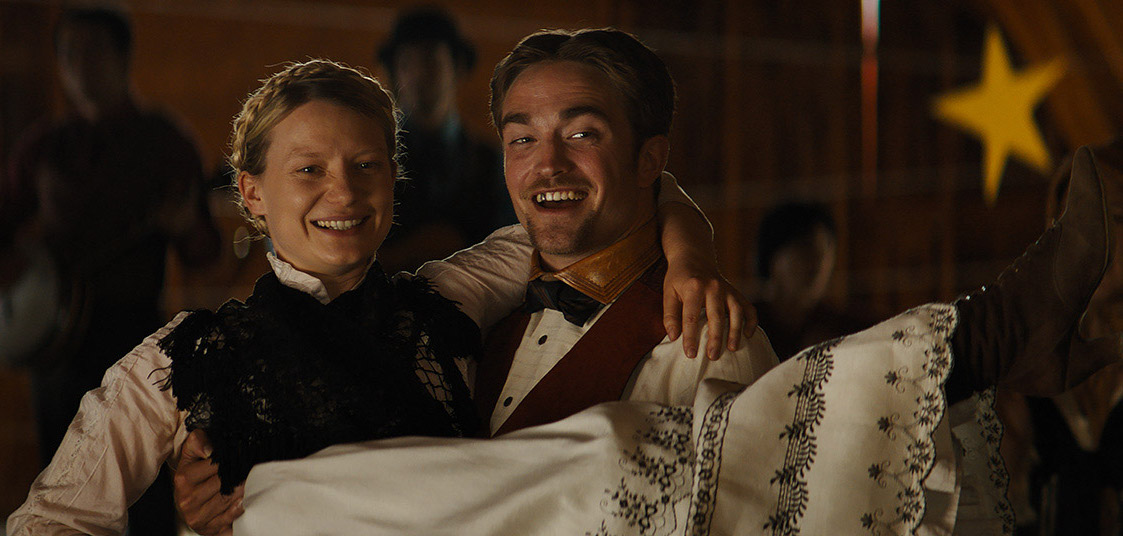 Mia Wasikowska and Robert Pattinson appear in Damsel by David Zellner and Nathan Zellner
