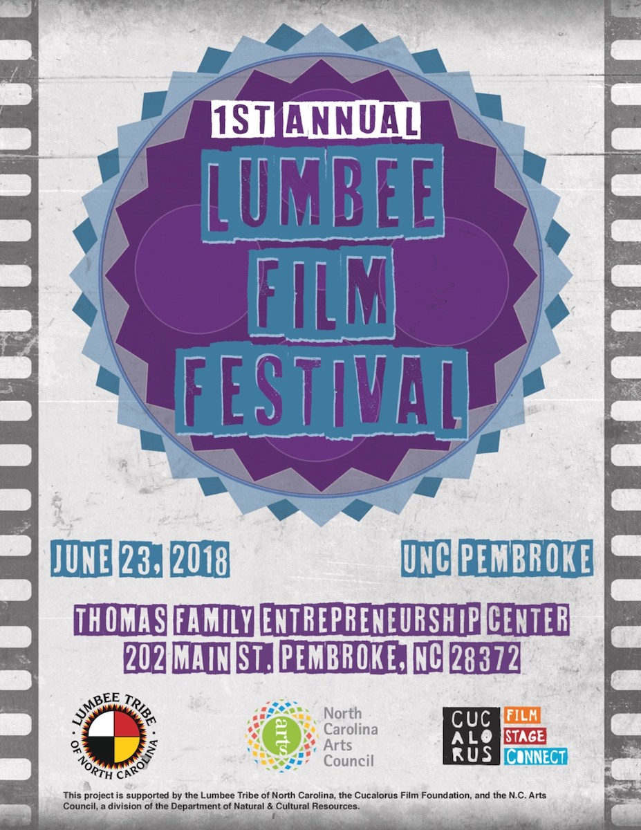 The first ever Lumbee Film Festival takes place June 23rd, 2018 at the UNC Pembroke Thomas Family Entrepreneurship Center, brought to you by the Lumbee Tribe of North Carolina, Cucalorus Film Foundation, and the North Carolina Arts Council. (PRNewsfoto/Lumbee Film Festival)