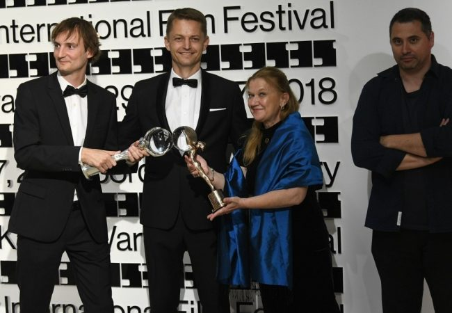 Olmo Omerzu, Jiří Konečný, Ada Solomon, Radu Jude (Film Servis Festival Karlovy Vary)