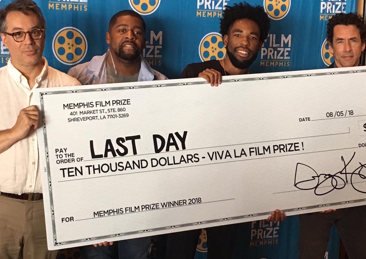 Memphis Film Prize 2018 - Prize Presentation - David Merrill, Ricky D. Smith, Kevn Brooks, Gregory Kallenberg (Photo by Wildman)