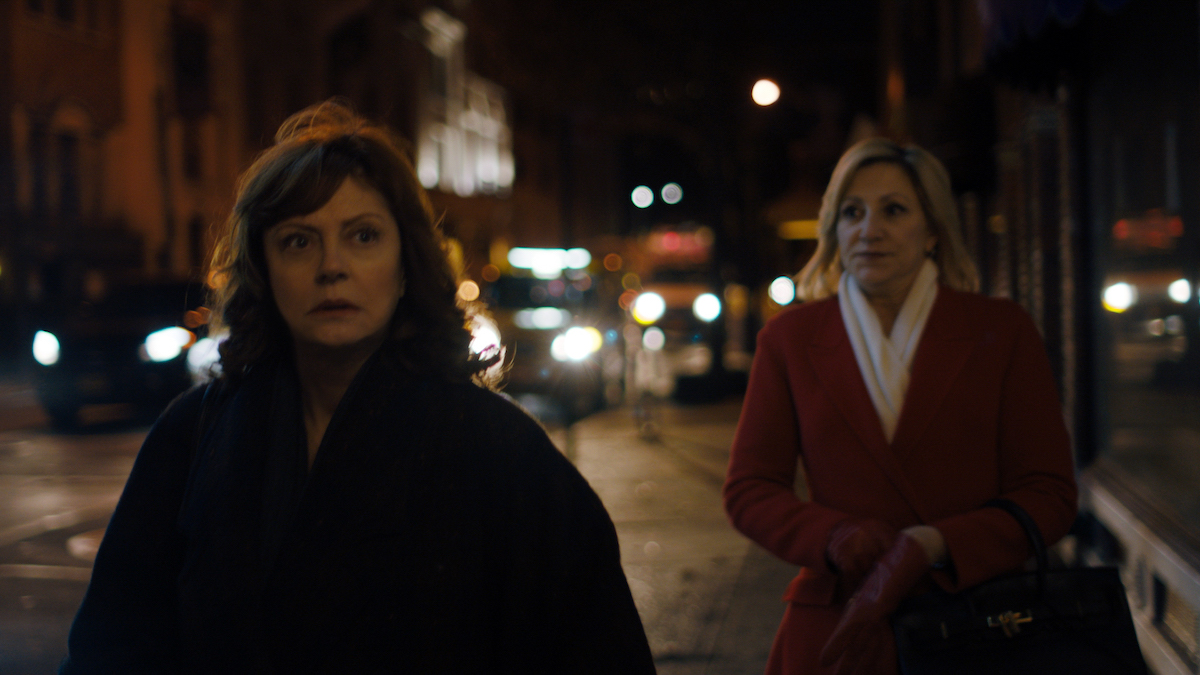 Susan Sarandon and Edie Falco in VIPER CLUB.