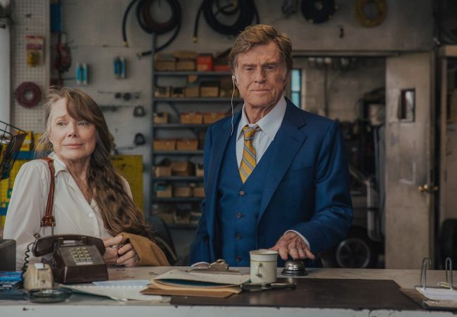 Sissy Spacek and Robert Redford in The Old Man and the Gun.