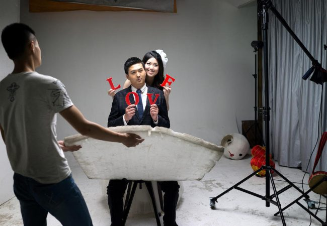 """China Love. At Only Photo Studio just out of Shanghai. This is a """"go-to"""" pre wedding photography studio with 3 floors of 'old world' romantic and fantasy sets. July 2015"""