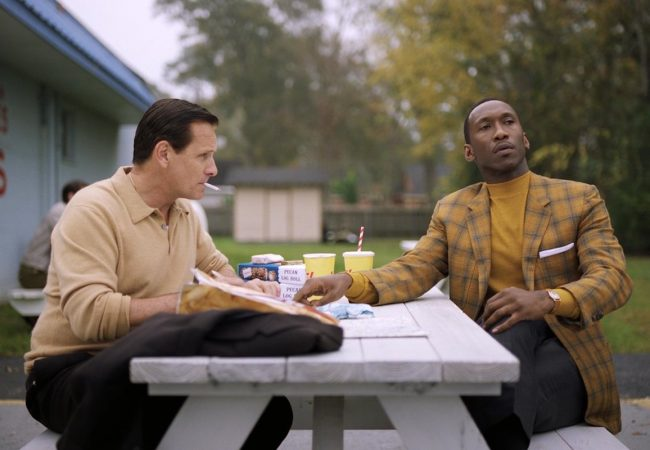 L to R: Viggo Mortensen and Mahershala Ali in GREEN BOOK