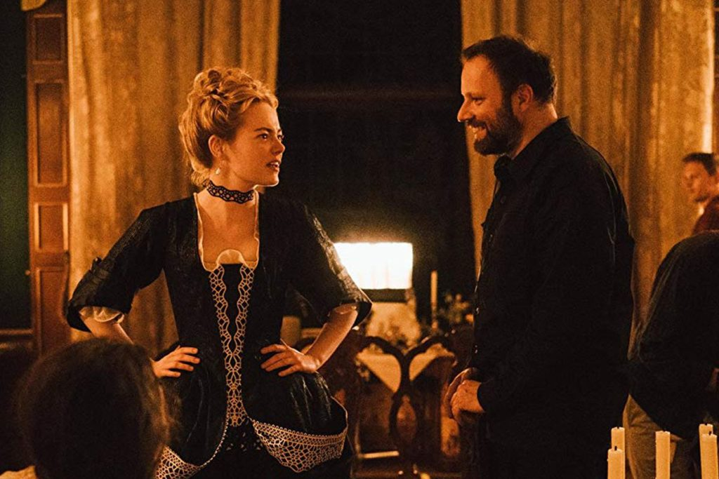 Emma Stone (with director Yorgos Lanthimos) The Favourite.