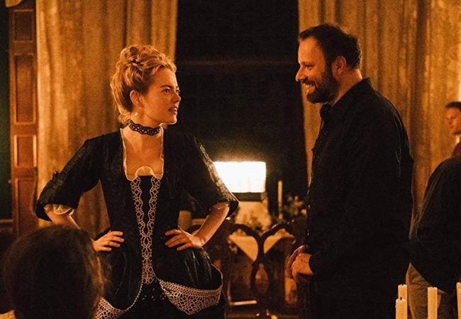 Emma Stone (with director Yorgos Lanthimos) The Favourite