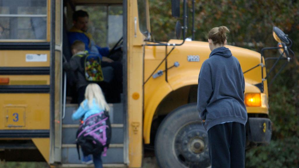 UNTOUCHABLE - In Oklahoma Shawna Baldwin watches her children board a school bus.