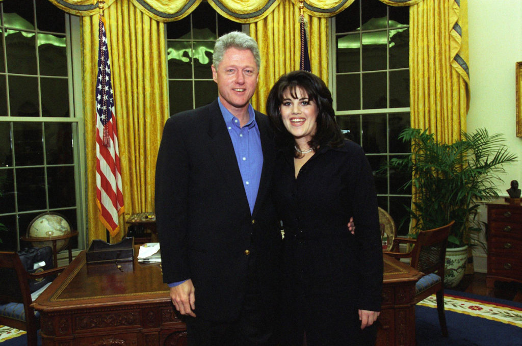 Bill Clinton and Monica Lewinsky on February 28, 1997
