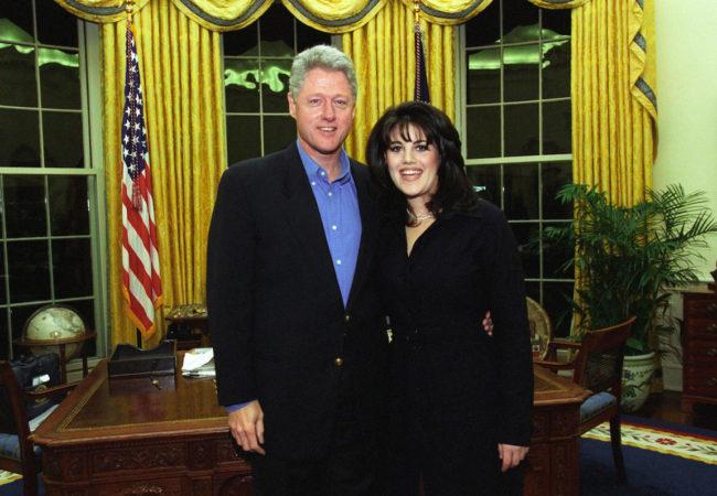Bill Clinton and Monica Lewinsky on February 28, 1997