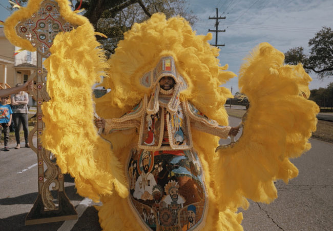 Big Chief Demond Melancon. All on a Mardi Gras Day. Director: Michal Pietrzyk. © Michal Pietrzyk