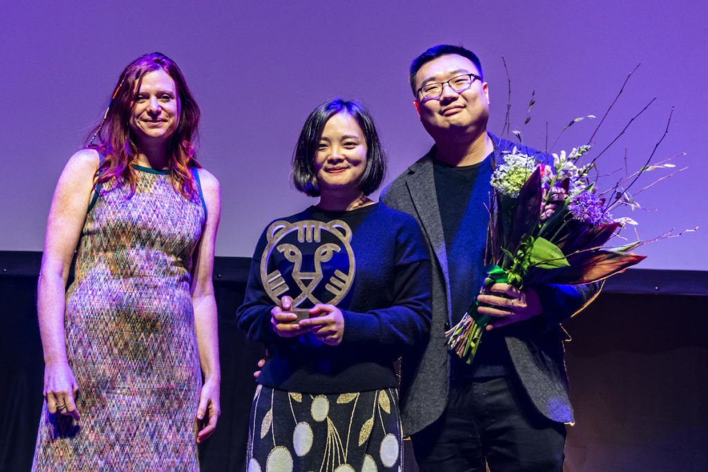 From left to right: Susanna Nicchiarelli (president Tiger Jury), Zhu Shengze (filmmaker), and Zhengfang Yang (producer) International Film Festival Rotterdam 2019 Award Winners