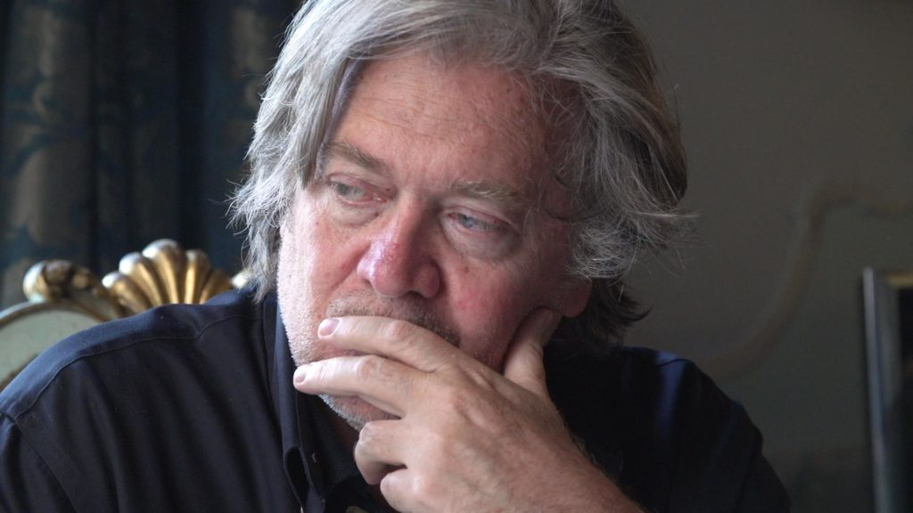 Steve Bannon in THE BRINK directed by Alison Klayman