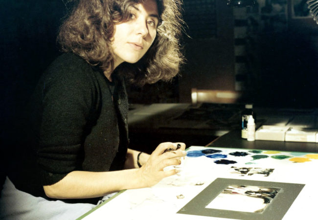 Animator Caroline Leaf, at work on her award-winning animated short The Street, which she completed in 1976. (via nfb.ca)