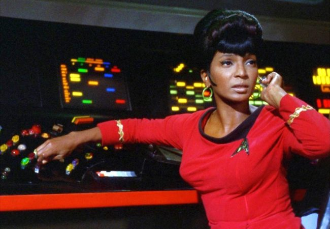 WOMAN IN MOTION, Nichelle Nichols as Lieutenant Uhura, the communications officer aboard the Starship Enterprise