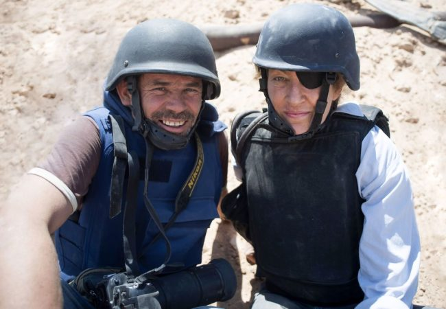 Photographer Paul Conroy and Sunday Times War Correspondent Marie Colvin in Under the Wire