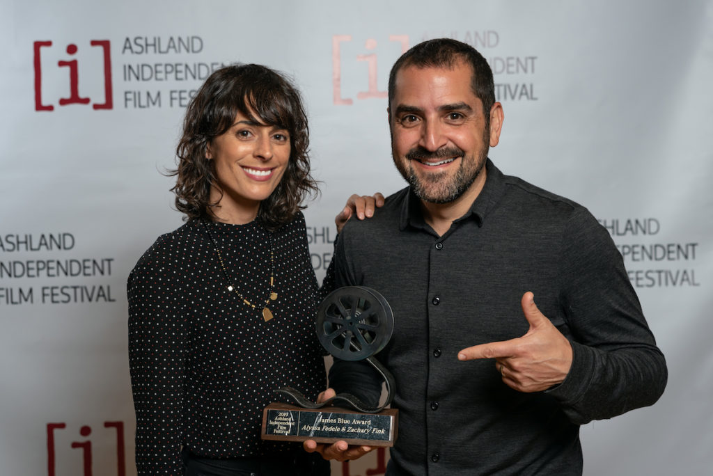 The 2019 Ashland Independent Film Festival James Blue Award was presented to directors Alyssa Fedele and Zachary Fink of The Rescue List.