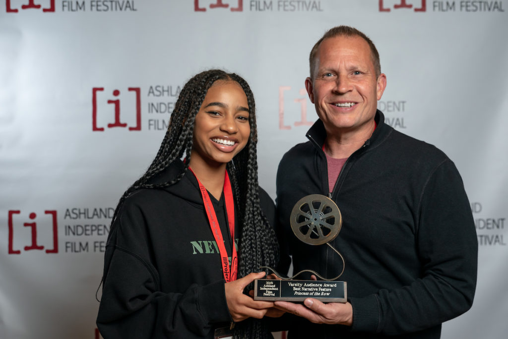 2019 Ashland Independent Film Festival Varsity Audience Award: Narrative Feature: Princess of the Row - Producer A. Shawn Austin and Tayler Buck_Princess of the Row.