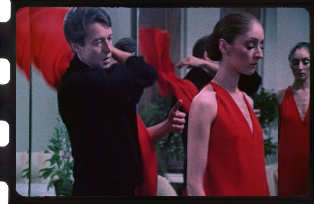 Halston documentary. Halston and red dress.