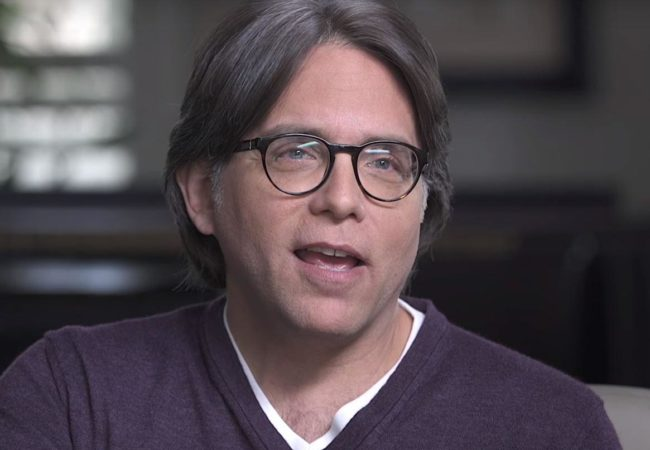 "NXIVM leader Keith Raniere appears in videos titled ""Keith Raniere Conversations,"" published on YouTube (Keith Raniere Conversations/YouTube)"