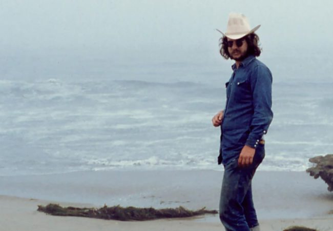 Jim Allison: Breakthrough. Jim Allison on beach in San Diego, 1975. | Credit: Malinda Allison