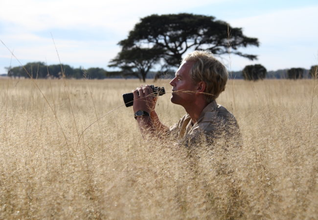 Young Tony Sinclair in the Serengeti