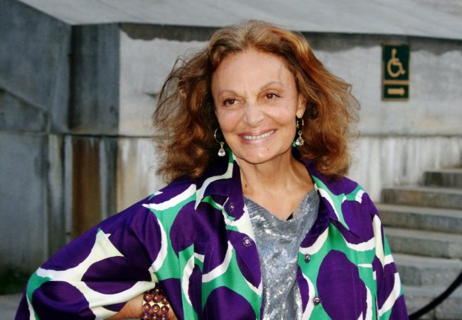 Diane von Fürstenberg at the Vanity Fair party for the 2012 Tribeca Film Festival.