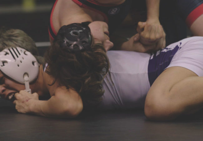 Changing the Game - Mack Beggs wrestling for the Texas girls State Championship. Photographer: Turner Jumonville