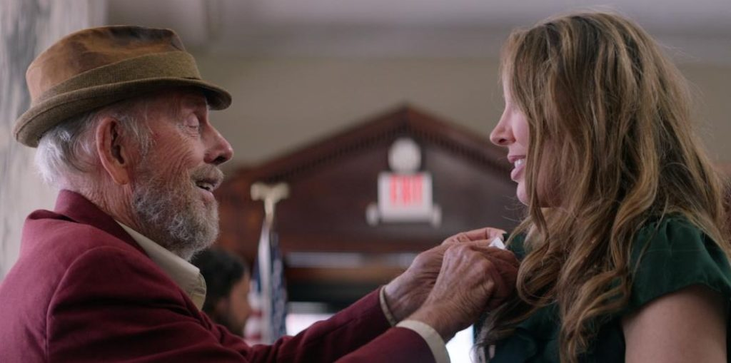 Rance Howard and Jennifer Kamstock in Apple Seed
