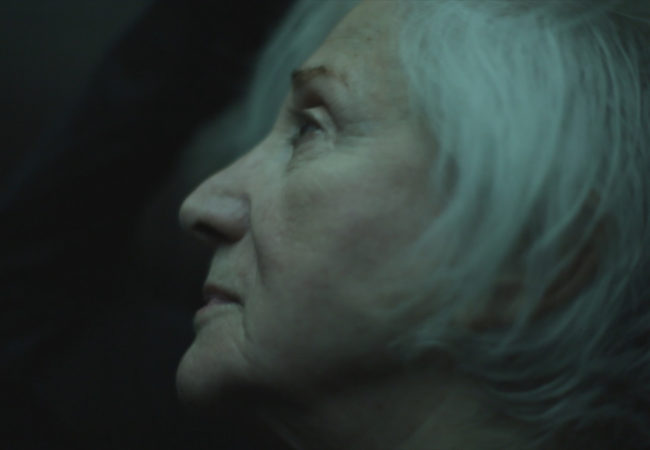 Olympia Dukakis from the opening scene of documentary Olympia.