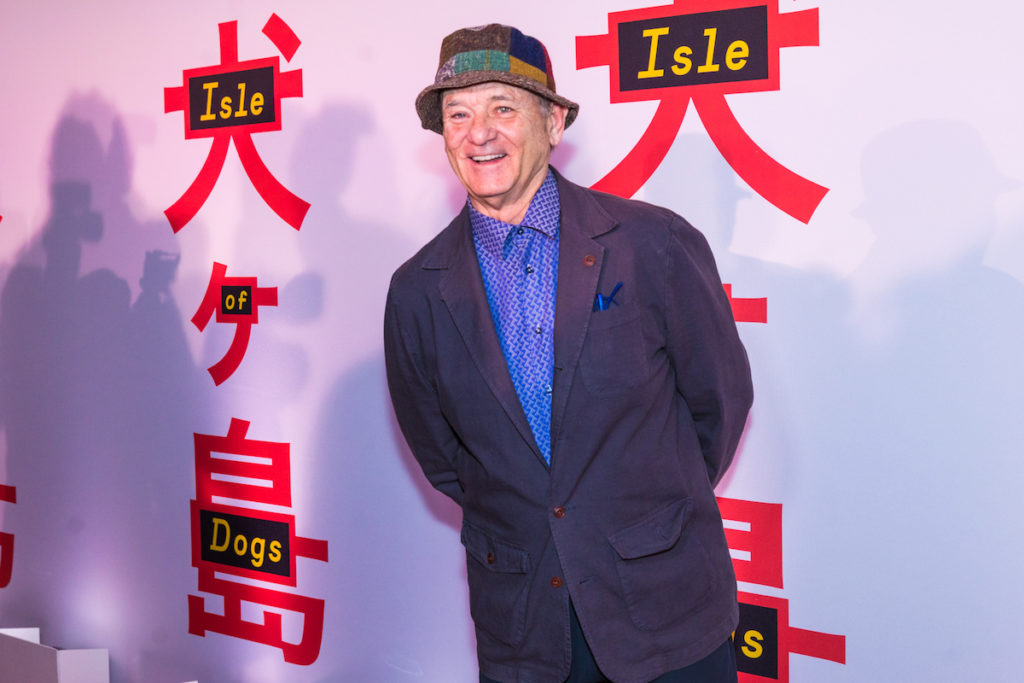 Bill Murray at the screening of Wes Anderson's'Isle of Dogs' at the Metropolitan Museum of Art in New York on March 20, 2018.