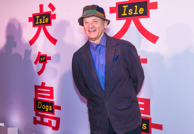 Bill Murray at the screening of Wes Anderson's 'Isle of Dogs' at the Metropolitan Museum of Art in New York on March 20, 2018.