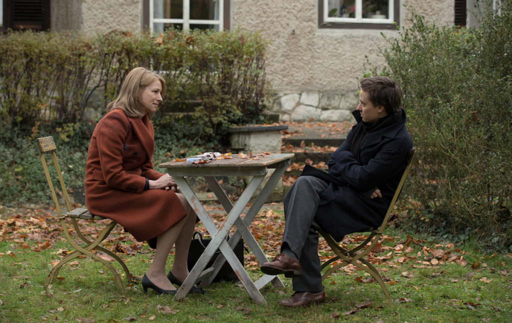 """Lara"" directed by Jan-Ole Gerster. Lara (Corinna Harfouch) and Sohn Viktor (Tom Schilling)"