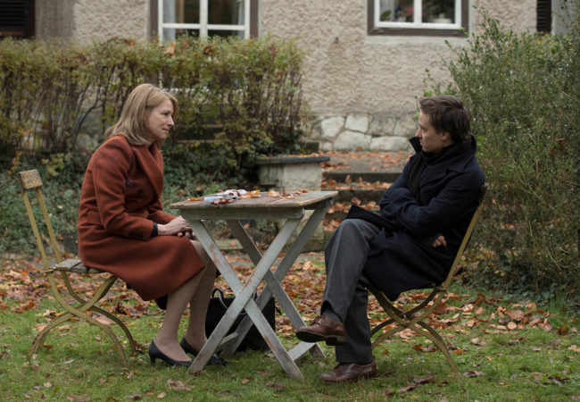 """Lara"" directed by Jan-Ole Gerster. Lara (Corinna Harfouch) and Sohn Viktor (Tom Schilling)"