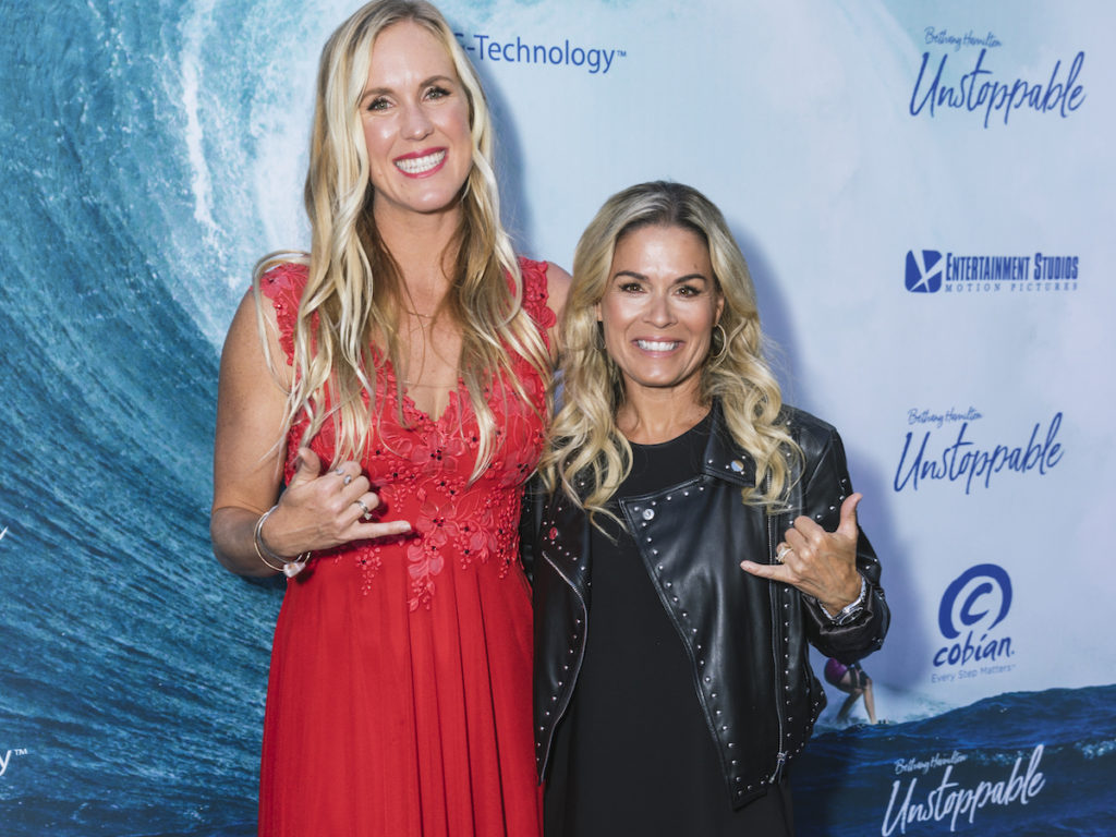 Bethany Hamilton and Cat Cora at the premiere of BETHANY HAMILTON - UNSTOPPABLE - photo credit Cole Ferguson