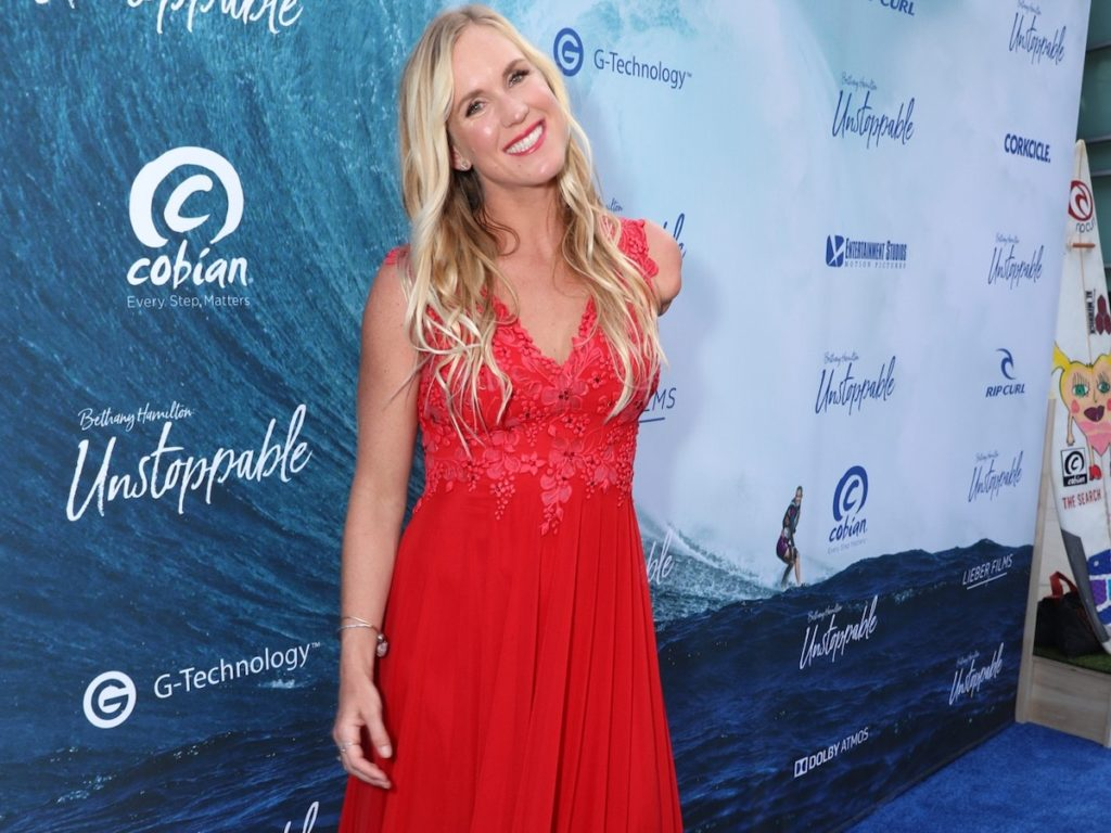 Bethany Hamilton at the premiere of BETHANY HAMILTON - UNSTOPPABLE - photo credit Cole Ferguson