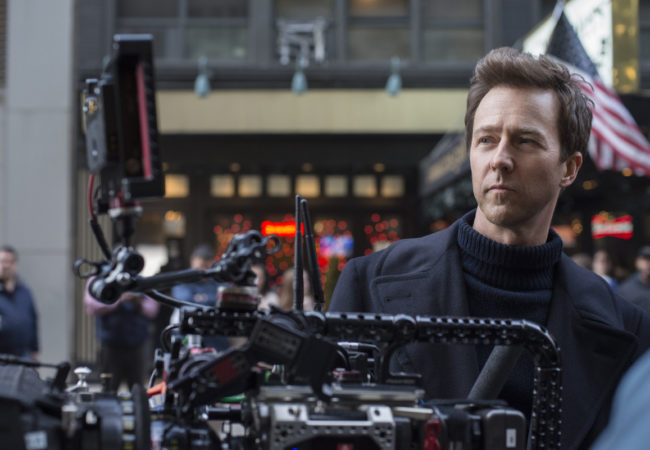 "Actor/Writer/Director/Producer EDWARD NORTON on the set of Warner Bros. Pictures' drama ""MOTHERLESS BROOKLYN,"" a Warner Bros. Pictures release."