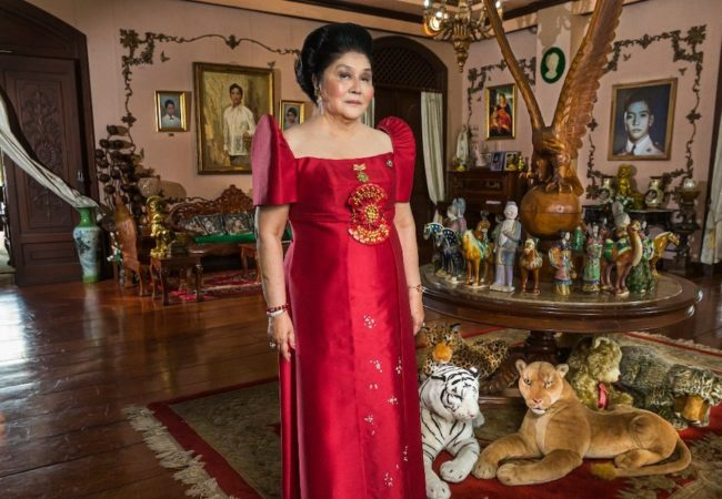 Imelda Marcos on her 85th birthday in KINGMAKER. Photo Credit: Lauren Greenfield.