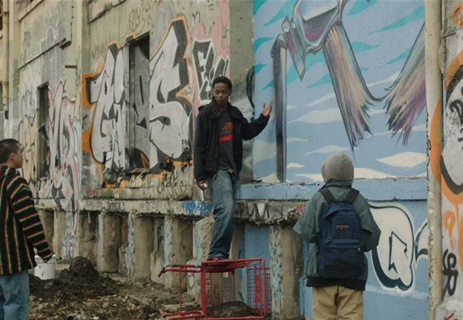 LaKeith Stanfield, Gregory Kasyan, and Tobit Raphael in Quest: The Truth Always Rises