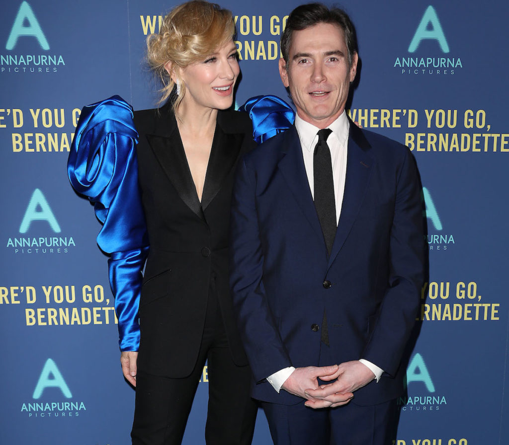 """- New York, NY - 8/12/19 - World Premiere of """"WHERE'D YOU GO, BERNADETTE"""". The film stars Billy Crudup, Cate Blanchett, Emma Nelson and Troian Bellisario, and is co-written and directed by Richard Linklater. It opens nationwide in theaters on August 16th, 2019. -Pictured: Cate Blanchett and Billy Crudup -Photo by: Kristina Bumphrey/StarPix -Location: Metrograph"""