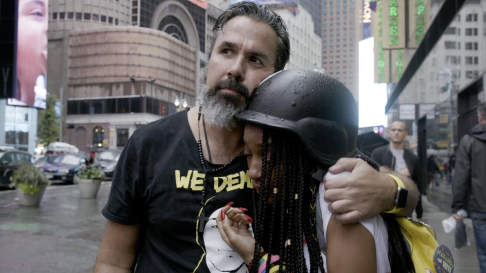 PARKLAND RISING. Artist and activist Manuel Oliver with Marjory Stoneman Douglas High student Tyra Hemans
