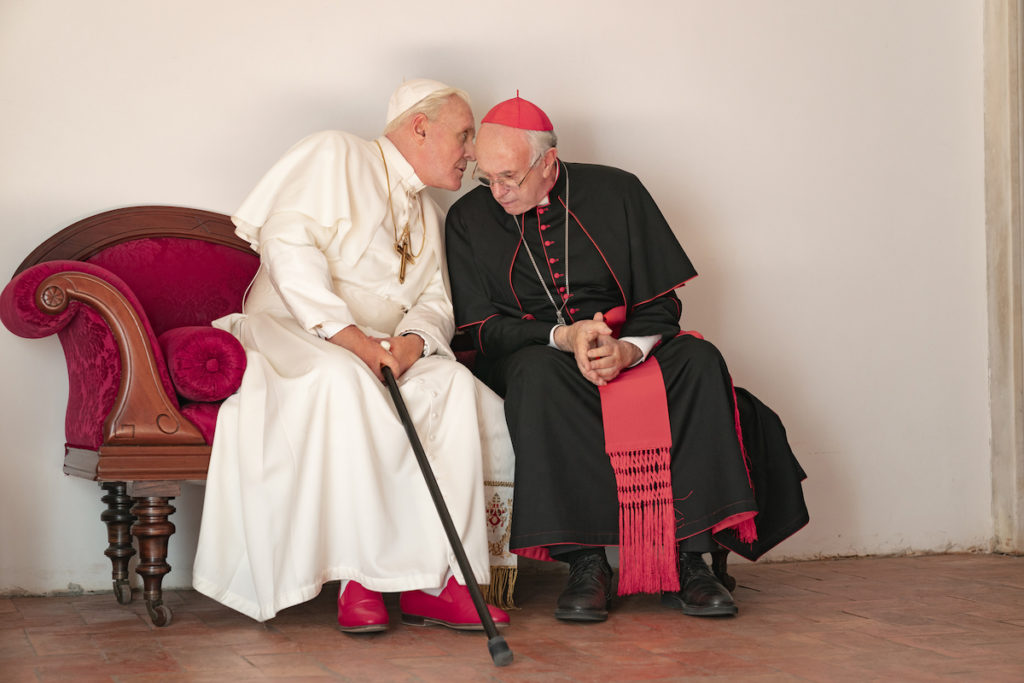 Fernando Meirelles' The Two Popes starring Anthony Hopkins and Jonathan Pryce