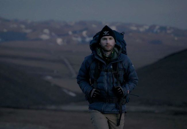 Adam Shoalts in ALONE ACROSS THE ARCTIC directed by Francis Luta