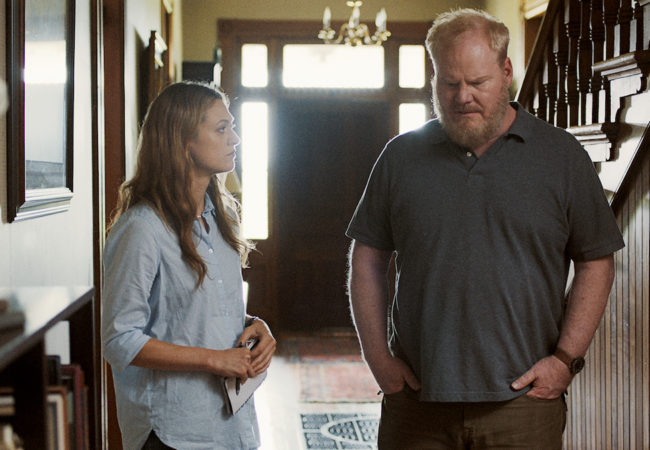"""(L to R) Marin Ireland and Jim Gaffigan in a scene from Paul Harrill's """"Light From Light."""" Courtesy of Grasshopper Film."""