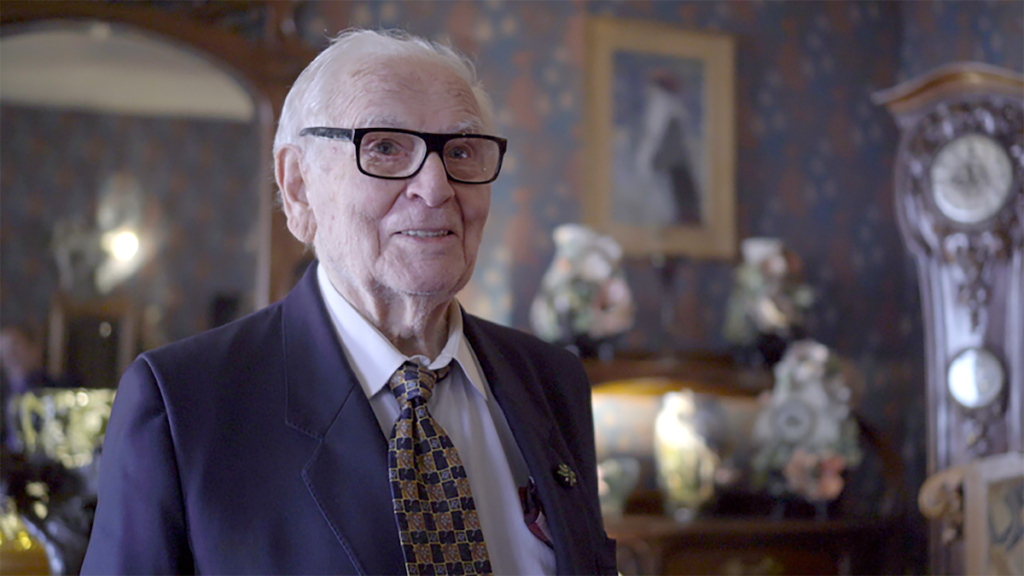 "Pierre Cardin says, ""I feel young,"" at his 1900 Collection Art Nouveau museum in Paris (Photo: still from ""HOUSE OF CARDIN, The Ebersole Hughes Company) (House Of Cardin, directed by P. David Ebersole and Todd Hughes)"