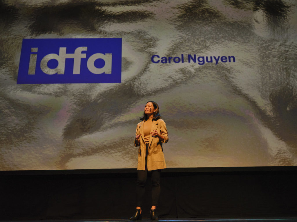 21-year-old Canadian-Vietnamese director Carol Nguyen at opening night of 32nd International Documentary Film Festival Amsterdam (IDFA)