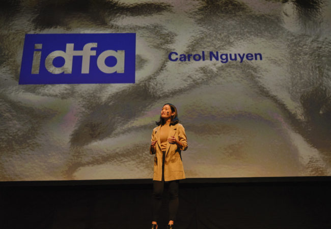 21-year-old Canadian-Vietnamese director Carol Nguyen at opening night of 32nd International Documentary Film Festival Amsterdam (IDFA) - PHOTO AND COPYRIGHT ROGER CREMERS