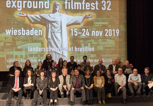 exground filmfest 32: Award winners, award sponsors and the exground team / Photo: Peter R. Fischer