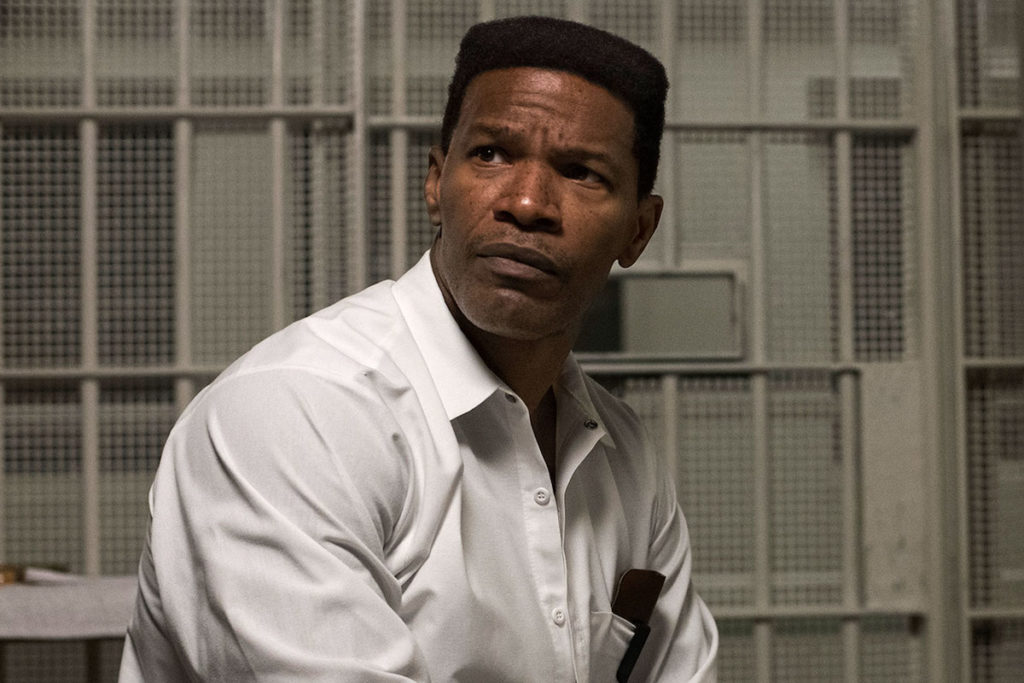 JAMIE FOXX as Walter McMillian in Warner Bros. Pictures' drama JUST MERCY