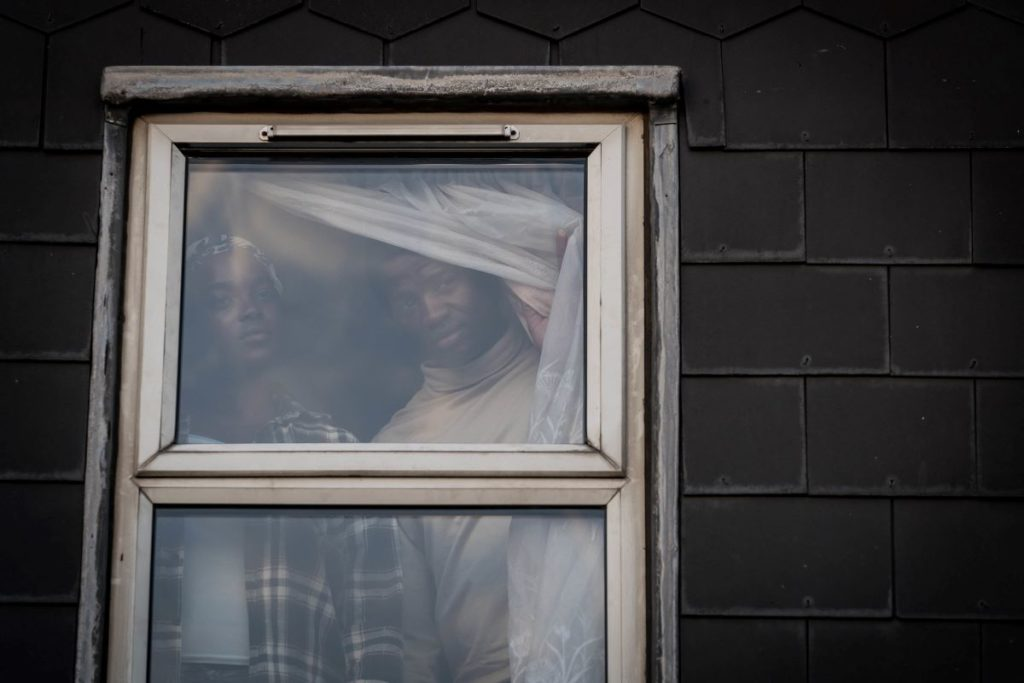 Wunmi Mosaku and Sope Dirisu appear in His House by Remi Weekes, an official selection of the Midnight program at the 2020 Sundance Film Festival. Courtesy of Sundance Institute | photo by Aidan Monaghan.