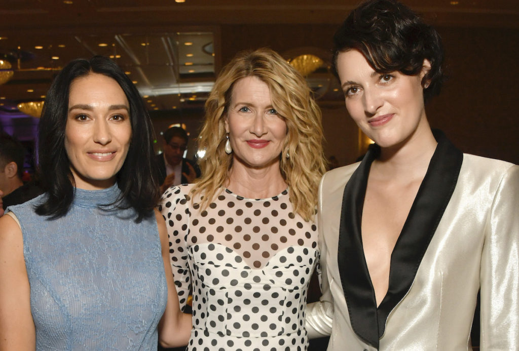 LOS ANGELES, CALIFORNIA - JANUARY 03: (L-R) Actor Sian Clifford, actor Laura Dern, and actor-producer Phoebe Waller-Bridge attend the 20th Annual AFI Awards at Four Seasons Hotel Los Angeles at Beverly Hills on January 03, 2020 in Los Angeles, California.